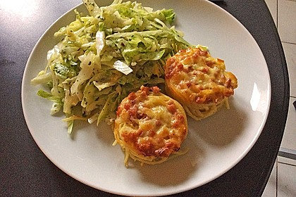 Spaghetti carbonara-Muffins 8