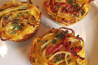 Spaghetti carbonara-Muffins 3