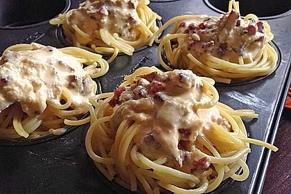 Spaghetti carbonara-Muffins 16