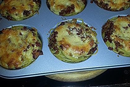 Spaghetti carbonara-Muffins 21