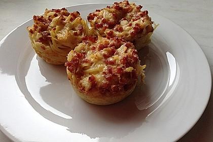 Spaghetti carbonara-Muffins 5