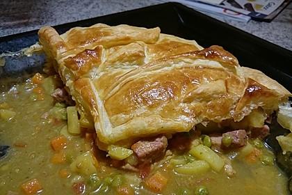 Gebackene Curry-Truthahn-Pastete