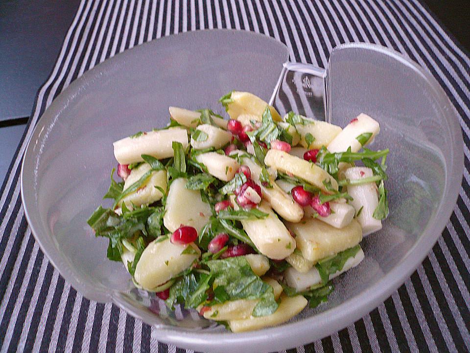 spargel kartoffel salat mit gebratenen jakobsmuscheln rezept mit bild. Black Bedroom Furniture Sets. Home Design Ideas