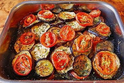 Tomaten-Auberginen Auflauf