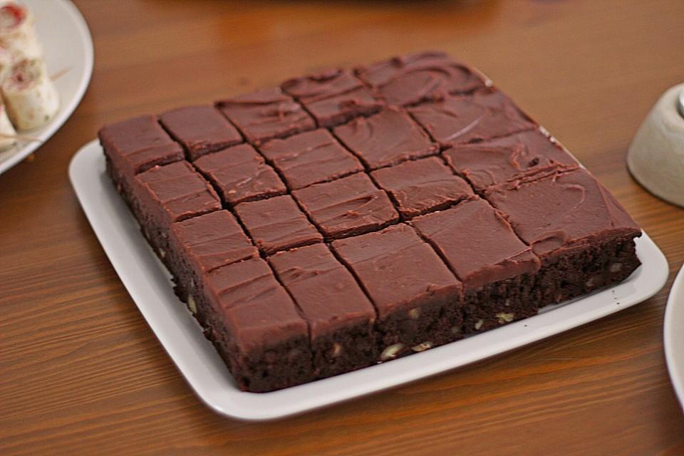 frosted chocolate chip brownies rezept mit bild. Black Bedroom Furniture Sets. Home Design Ideas