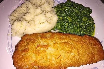 Fischfilet mit Spinat und Kräuterkruste