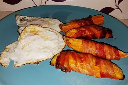 Süßkartoffeln mit Bacon und Eiern 4