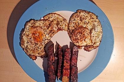 Süßkartoffeln mit Bacon und Eiern 5