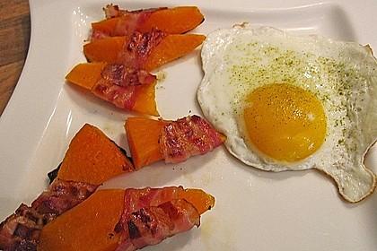 Süßkartoffeln mit Bacon und Eiern 3