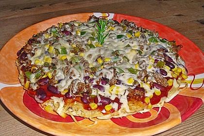 Spaghetti-Barbecue Pizza 1