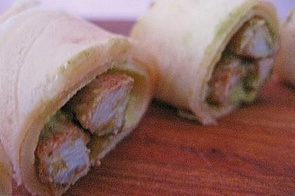Crêpes mit Pesto und Hähnchen 4