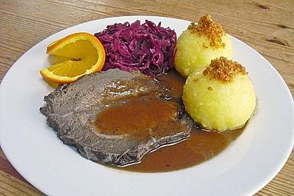 Rinderbraten im Schnellkochtopf  mit  viel Sauce 1