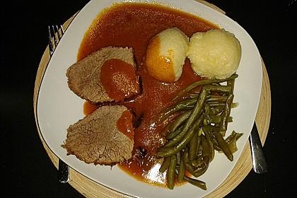 Rinderbraten im Schnellkochtopf  mit  viel Sauce