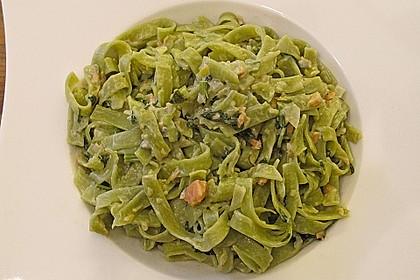 Spaghetti mit Lachs-Spinat Soße