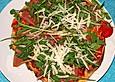 "Pizza ""Rucola"" mit Parmesan"