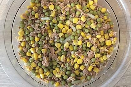 Einfacher und schneller Thunfisch Salat