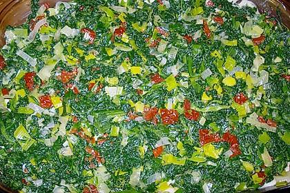 Spinat-Lauch-Lasagne mit Räucherlachs 4