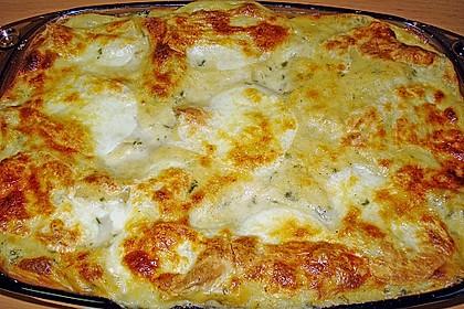 Spinat-Lauch-Lasagne mit Räucherlachs 3