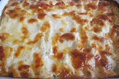 Spinat-Lauch-Lasagne mit Räucherlachs 2