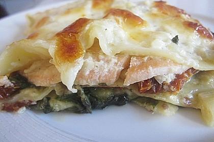 Spinat-Lauch-Lasagne mit Räucherlachs 1