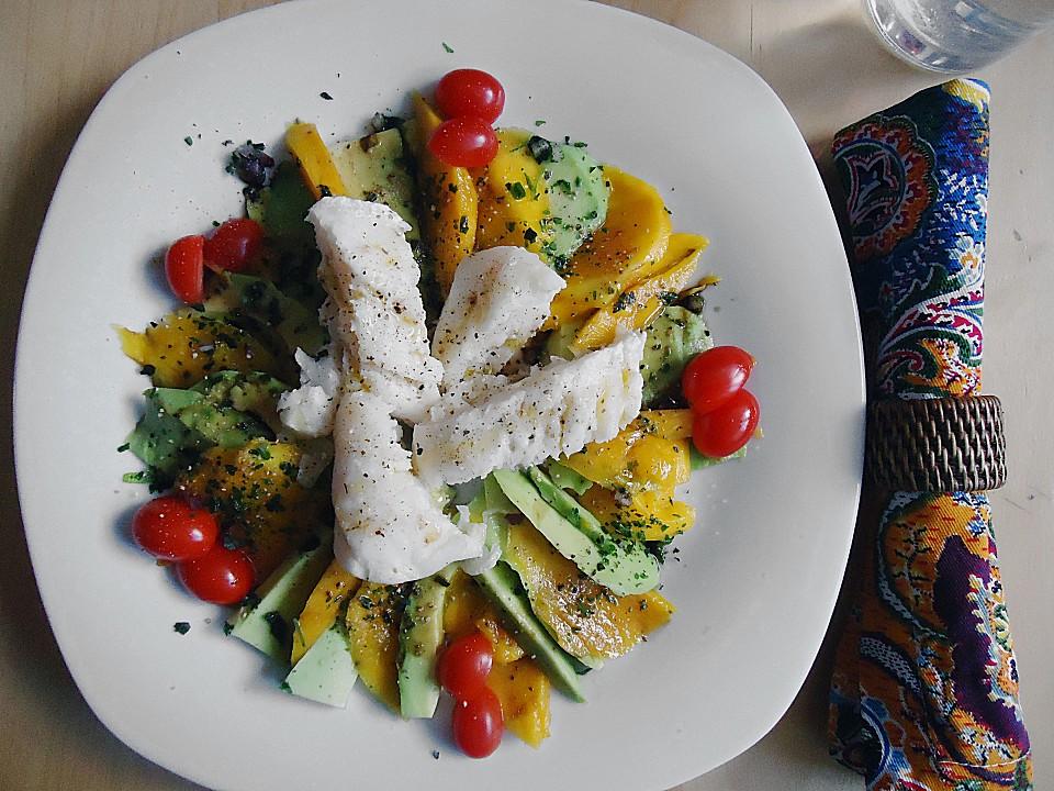 avocado mango salat mit fisch von momali. Black Bedroom Furniture Sets. Home Design Ideas