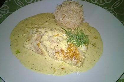 Dill-Curry-Honig-Sauce zu Fisch und Reis 5