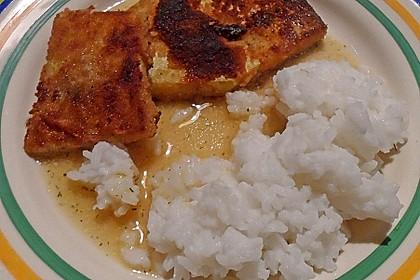 Dill-Curry-Honig-Sauce zu Fisch und Reis 17