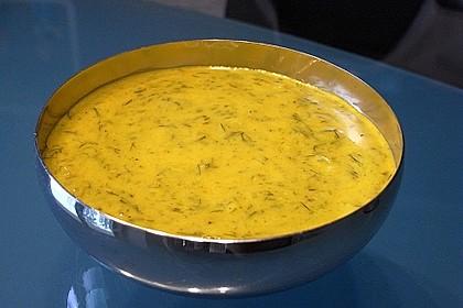 Dill-Curry-Honig-Sauce zu Fisch und Reis 14