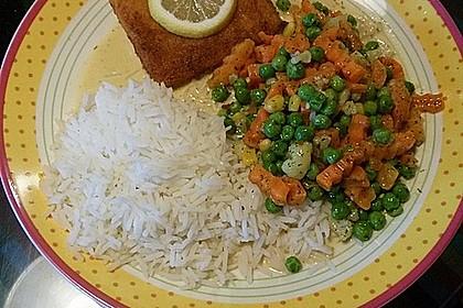 Dill-Curry-Honig-Sauce zu Fisch und Reis 15
