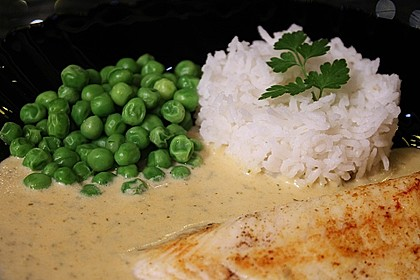 Dill-Curry-Honig-Sauce zu Fisch und Reis 16