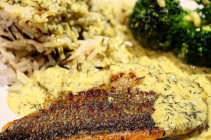 Dill-Curry-Honig-Sauce zu Fisch und Reis 7