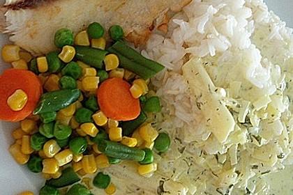 Dill-Curry-Honig-Sauce zu Fisch und Reis 10