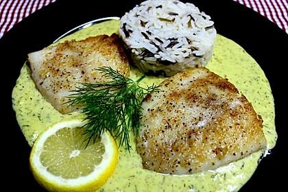 Dill-Curry-Honig-Sauce zu Fisch und Reis 1