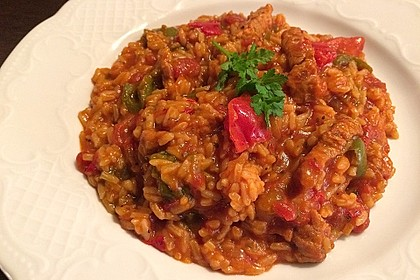 Serbisches Reisfleisch im Schnellkochtopf