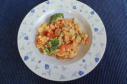 Brokkoli-Risotto mit roten Linsen 3