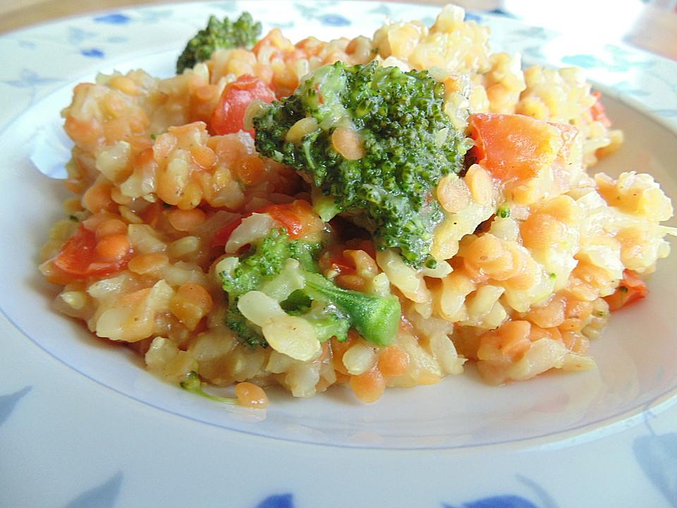 brokkoli risotto mit roten linsen von glutenoglutanos. Black Bedroom Furniture Sets. Home Design Ideas