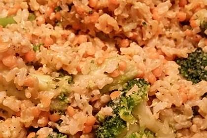 Brokkoli-Risotto mit roten Linsen 4