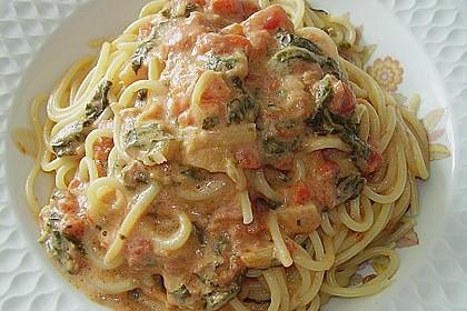 Mangold - Tomaten - Senf - Sahne - Tagliatelle 9