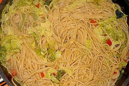 Mangold - Tomaten - Senf - Sahne - Tagliatelle 21