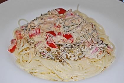 Mangold - Tomaten - Senf - Sahne - Tagliatelle 22