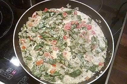 Mangold - Tomaten - Senf - Sahne - Tagliatelle 25
