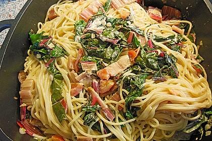 Mangold - Tomaten - Senf - Sahne - Tagliatelle 4