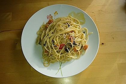 Mangold - Tomaten - Senf - Sahne - Tagliatelle 18