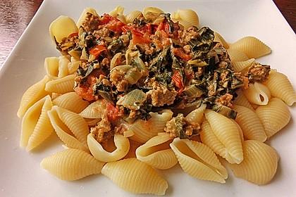 Mangold - Tomaten - Senf - Sahne - Tagliatelle 7