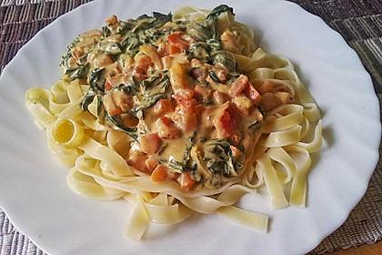 Mangold - Tomaten - Senf - Sahne - Tagliatelle 3