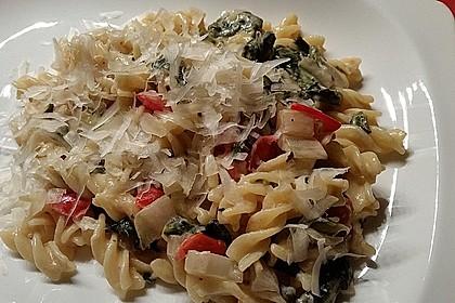 Mangold - Tomaten - Senf - Sahne - Tagliatelle 10