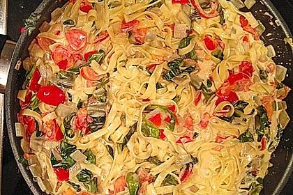 Mangold - Tomaten - Senf - Sahne - Tagliatelle 19