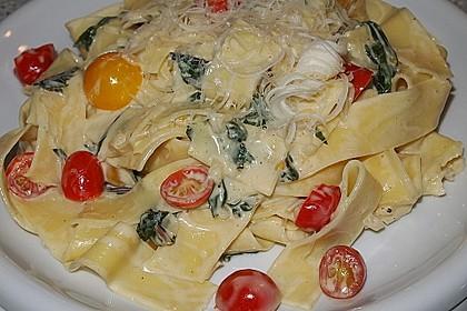 Mangold - Tomaten - Senf - Sahne - Tagliatelle 6