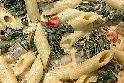 Mangold - Tomaten - Senf - Sahne - Tagliatelle 2