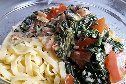 Mangold - Tomaten - Senf - Sahne - Tagliatelle 13